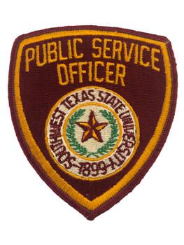 SOUTHERN TX UNIV SERVICE OFFICER POLICE PATCH