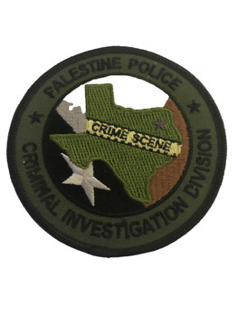 PALESTINE POLICE TX CRIMINAL CID PATCH