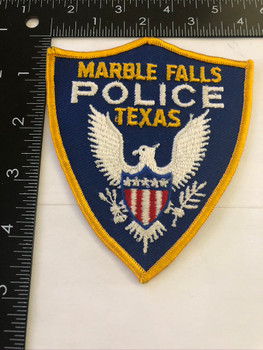 MARBLE FALLS TX POLICE PATCH