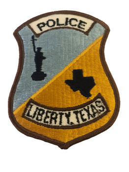 LIBERTY TX POLICE PATCH