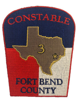 FORT BEND CONSTABLE TX POLICE PATCH LASER CUT