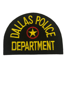 DALLAS POLICE TX POLICE LASER CUT PATCH