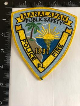 MANALAPAN FL POLICE PATCH 2