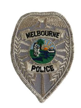 MELBOURNE FL POLICE BADGE PATCH SILVER