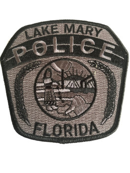 LAKE MARY FL POLICE PATCH GRAY