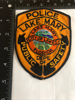 LAKE MARY FL POLICE PATCH OLD SCHOOL