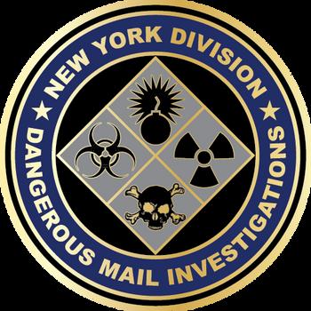 US POSTAL NY Div. Dangerous Mail PLAQUE