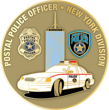 US POSTAL POLICE NY DIVISION PLAQUE