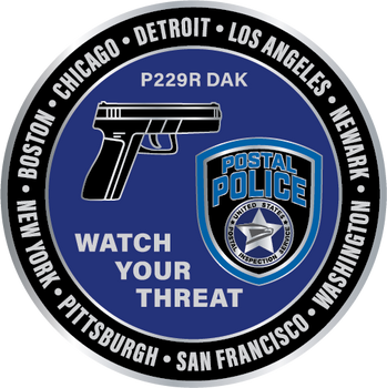 US POSTAL WATCH YOUR THREAT PLAQUE