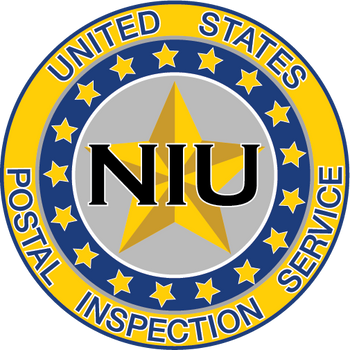 US POSTAL INSPECTION SERVICE NIU PLAQUE
