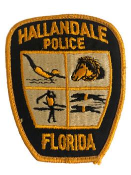 HALLANDALE FL POLICE PATCH OLD SCHOOL