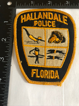 HALLANDALE FL POLICE PATCH OLD SCHOOL