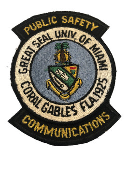 CORAL GABLES FL PUBLIC SAFETY POLICE PATCH