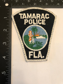 TAMARAC FL POLICE PATCH OLD SCHOOL