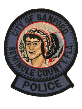 SANFORD FL POLICE PATCH DARK