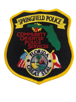 SPRINGFIELD FL POLICE PATCH NEW