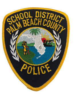 PALM BEACH CTY FL SCHOOL POLICE PATCH