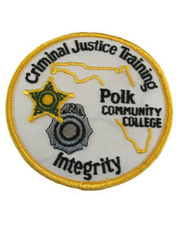 POLK CTY FL CRIMINAL JUSTICE TRAINING PATCH POLICE
