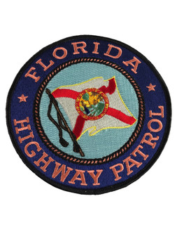 FLORIDA HIGHWAY PATROL PATCH PINK LG