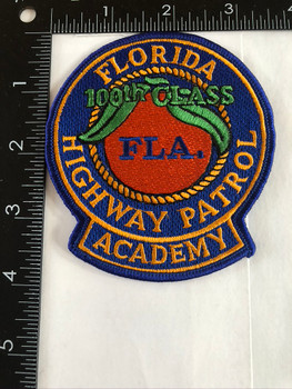 FLORIDA HIGHWAY PATROL FLA ACADEM 100TH PATCH LG