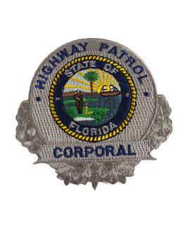 FLORIDA HIGHWAY PATROL CORPORAL BADGE PATCH