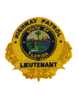 FLORIDA HIGHWAY PATROL LIEUTENANT BADGE PATCH