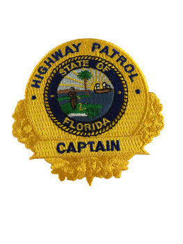 FLORIDA HIGHWAY PATROL CAPTAIN BADGE PATCH