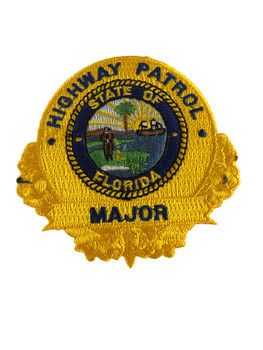 FLORIDA HIGHWAY PATROL MAJOR BADGE PATCH