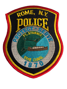 ROME NY POLICE PATCH RED