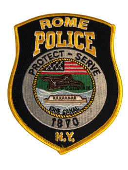 ROME NY POLICE PATCH FLAG