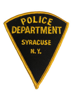 SYRACUSE NY POLICE PATCH TRIANGLE