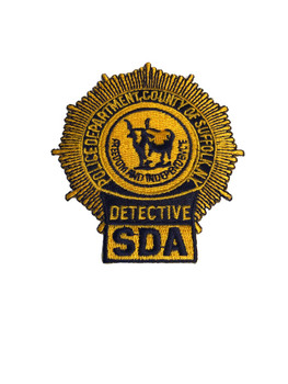 SUFFOLK CTY NY DETECTIVE SDA POLICE PATCH