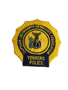 YONKERS NY POLICE CAPT. LT SGT PATCH