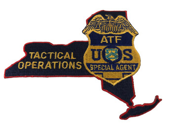 ATF NY STATE TACTICAL OPS PATCH
