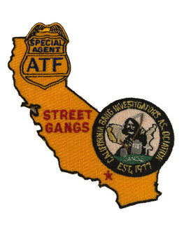 ATF CA GANG STREET GANGS PATCH