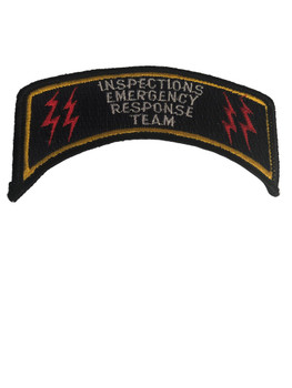INSPECTIONS EMERGENCY RESPONSE TEAM PATCH