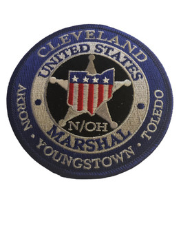 U.S. MARSHALS SERVICE NORTHERN OHIO PATCH SILVER