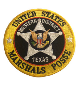 U.S. MARSHALS SERVICE POSSE WESTERN TEXAS PATCH