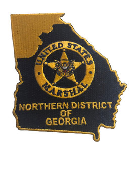 U.S. MARSHALS SERVICE NORTHERN DISTRICT OF GEORGIA PATCH GOLD