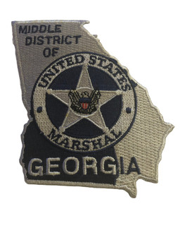 U.S. MARSHALS SERVICE MIDDLE DISTRICT OF GEORGIA PATCH SILVER