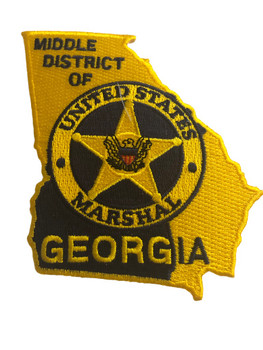 U.S. MARSHALS SERVICE MIDDLE DISTRICT OF GEORGIA PATCH GOLD