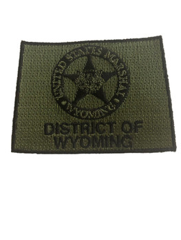 U.S. MARSHAL DISTRICT OF WYOMING PATCH
