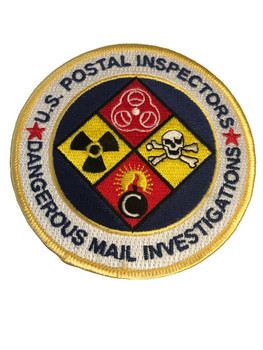US POSTAL INSPECTORS DANGEROUS MAIL PATCH