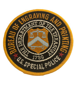 BUREAU OF ENGRAVING POLICE PATCH