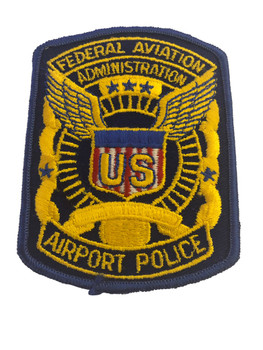 FEDERAL AVIATION ADMIN AIRPORT POLICE PATCH