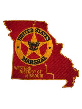 U.S. MARSHALS SERVICE WESTERN MISSOURI PATCH RED