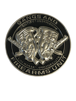 GANGS & FIREARMS UNIT COIN