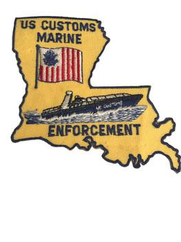 U.S. CUSTOMS MARINE ENFORCEMENT  PATCH
