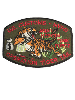 U.S. CUSTOMS NYPD OPERATION TIGER TAIL PATCH