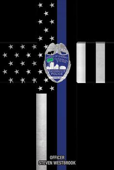 THIN LINE FLAG CUSTOM CROSS PLAQUE - DISTRESSED